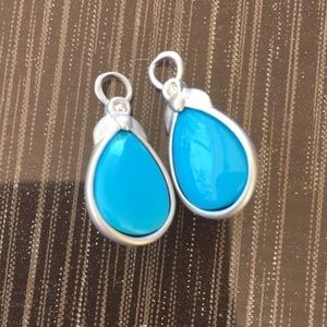 Jewelry - Pear shaped faux turquoise earring charms
